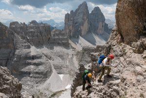 DOLOMITI DI SESTO  ///  FERRATE : Torre di Toblin – De Luca Innerkofler – Forcelle – Strada degli Alpini – Roghel – Cengia Gabriella  – Casara  – Degli Alpini 1915-1918